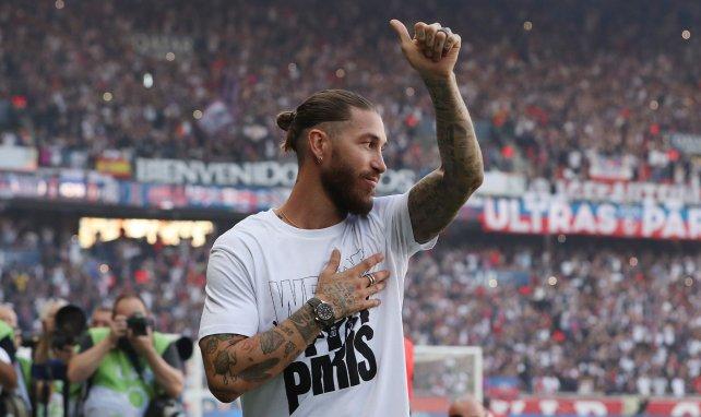 Sergio Ramos es presentado ante la afición
