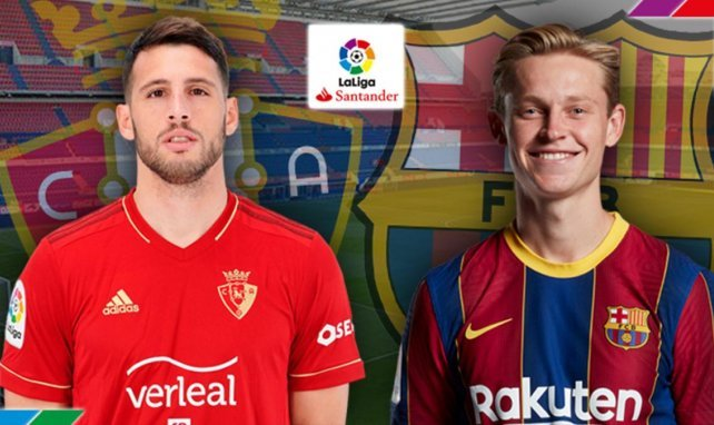 Confirmados los onces de Osasuna y FC Barcelona