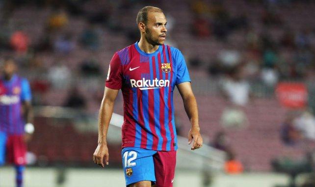 Martin Braithwaite con la elástica del FC Barcelona