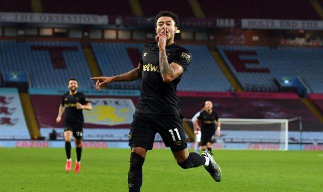 Jesse Lingard celebrando un gol con el West Ham