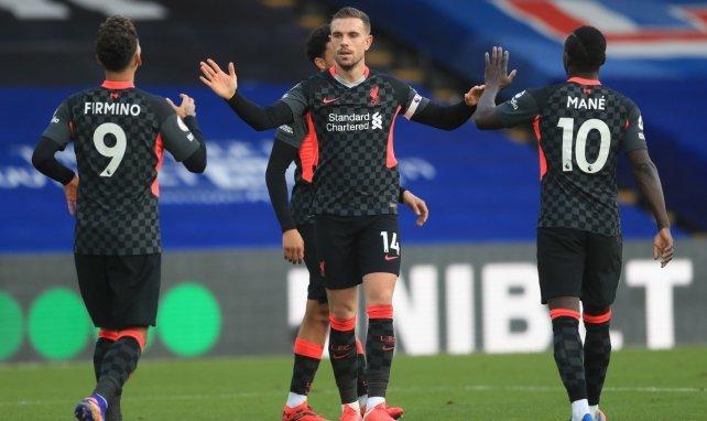 El Liverpool celebra uno de sus goles