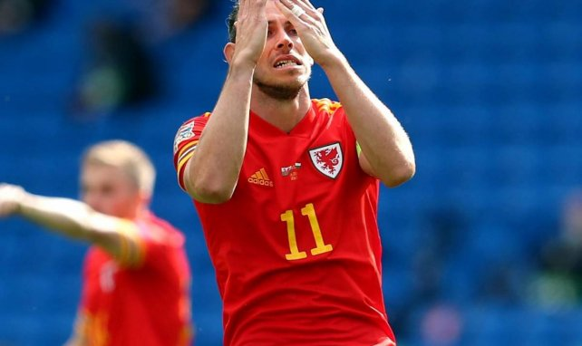 Gareth Bale, en acción con la Selección de Gales