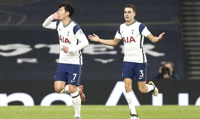 Heung-min Son celebra un gol con el Tottenham Hotspur