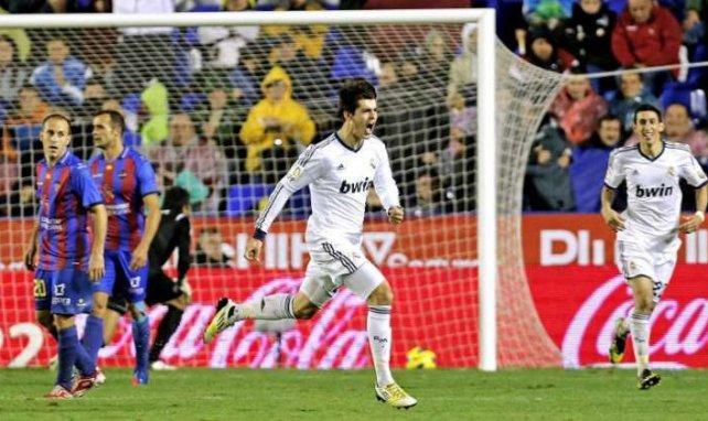 Álvaro Morata dio la victoria al Real Madrid en el último partido de Liga