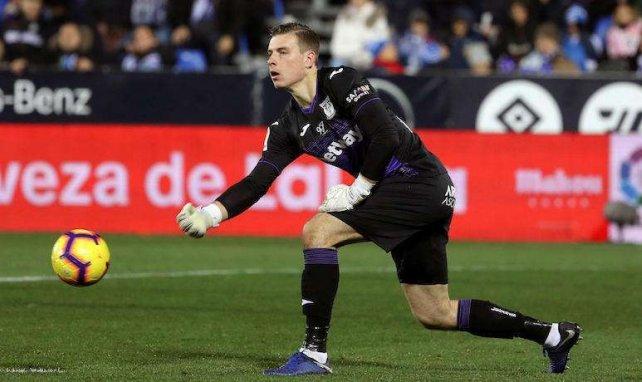 Andriy Lunin no ha disputado un sólo minuto con el Real Valladolid
