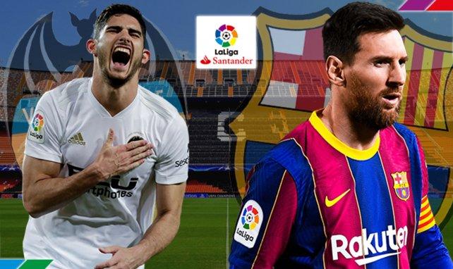 Gonçalo Guedes y Lionel Messi, titulares en Mestalla