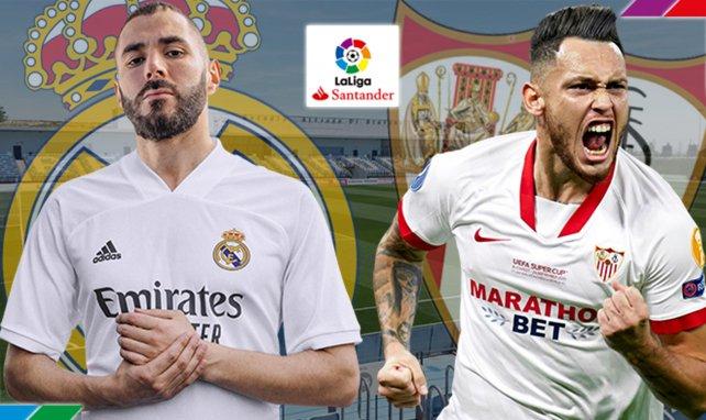 Confirmados los onces de Real Madrid y Sevilla