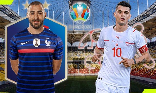Francia y Suiza se citan por un puesto en los cuartos de final de la Eurocopa