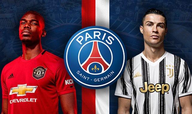 Paul Pogba (Manchester United) y Cristiano Ronaldo (Juventus de Turín)