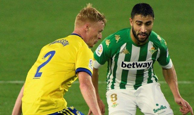 Nabil Fekir, en un partido de la Liga del Real Betis contra el Cádiz