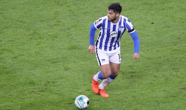 Omar Alderete, durante un partido con el Hertha de Berlín