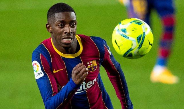 Ousmane Dembélé con el FC Barcelona
