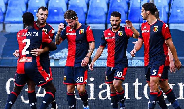 Jugadores del Genoa celebrando un gol