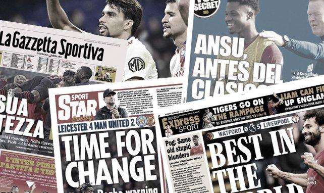 Día histórico en Barcelona, el AC Milan presenta sus credenciales al título