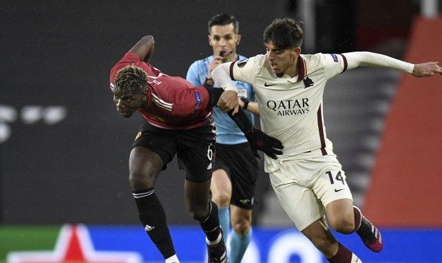 Paul Pogba, durante un choque con el Manchester United
