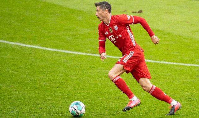 Robert Lewandowski en acción con el Bayern Múnich