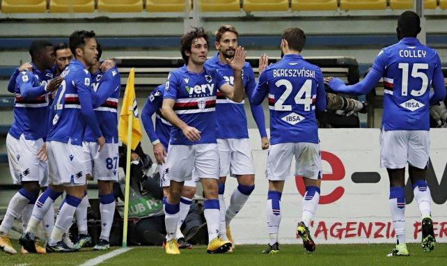 La Sampdoria celebra un gol