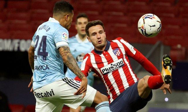 Saúl Ñíguez, en acción con el Atlético de Madrid