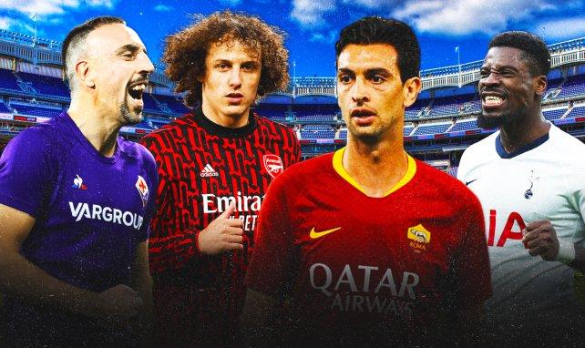 Ribéry, David Luiz, Pastore y Aurier
