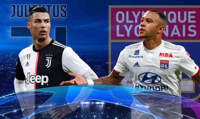 Las alineaciones del Juventus - Olympique de Lyon