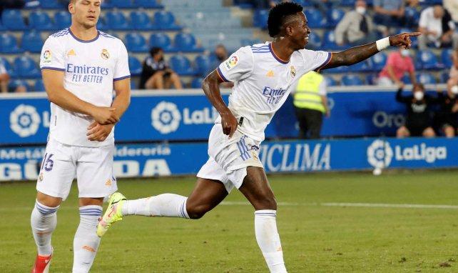 Vinicius Junior celebra un gol con el Real Madrid