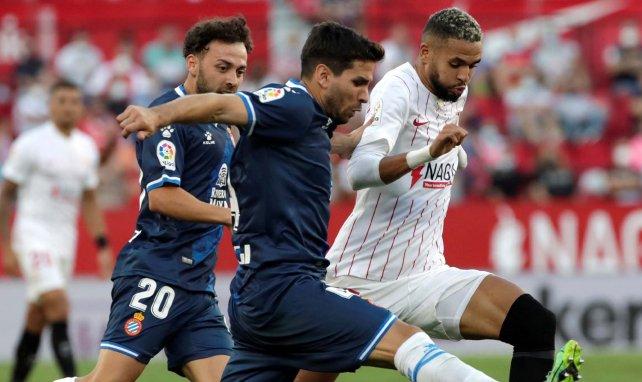 Youssef En-Nesyri, en acción con el Sevilla