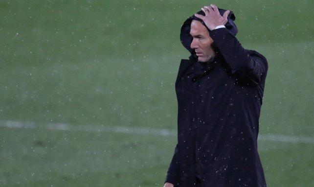Zinedine Zidane, en un partido del Real Madrid